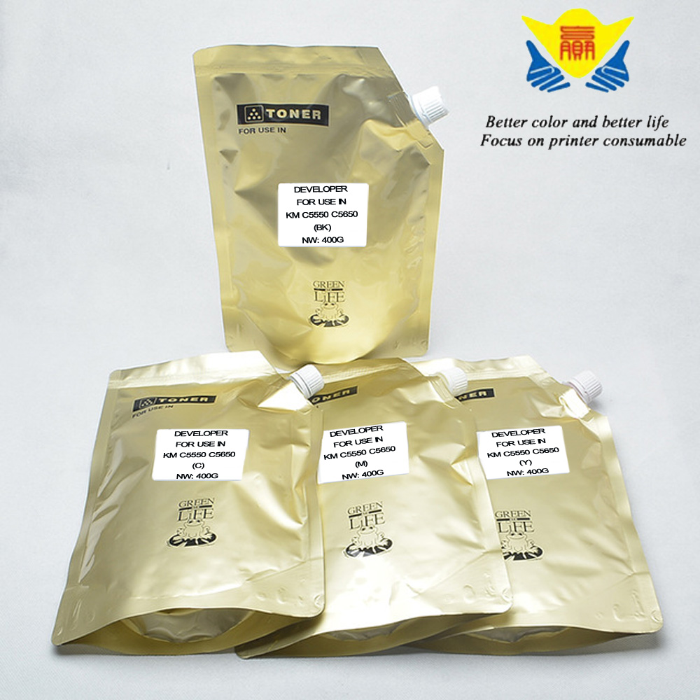 Jianyingchen Appropriate Developer Powder For Konica Minolta C5550 C5650 C5670 (4Bags/lot) 400G Per Bag