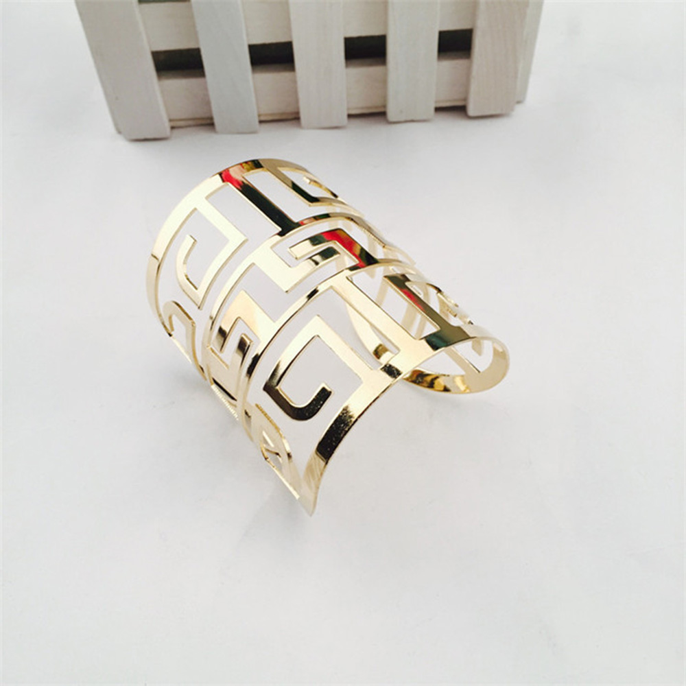 2018 Fashion Women Bracelets For Women Men Wristband Bracelet Gift Girl Bracelets Bangles Gold Hollow Alloy Male Bangle Jewelry