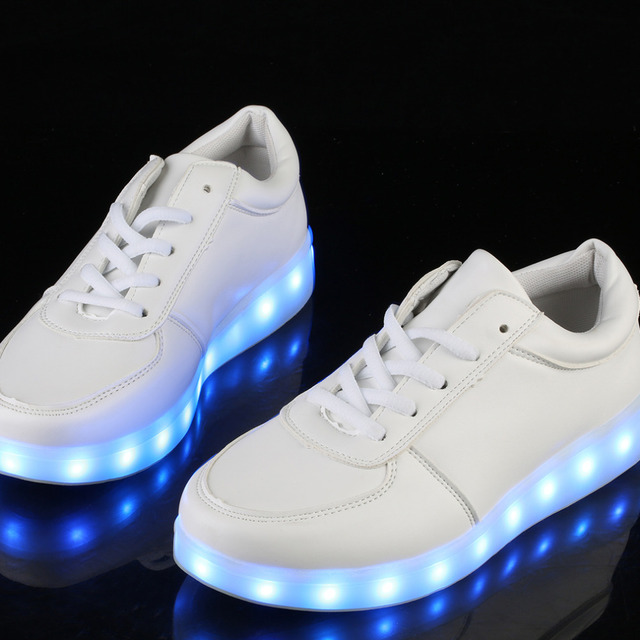 OUTAD Led luminous Shoes For Boys girls Outdoor Light Up Casual kids 7 Colors USB