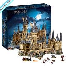 Harri Potter movie Series Hogwarts Castle Great Wall Set Building Blocks Bricks Compatible 71043 legoingly Model Building Toys