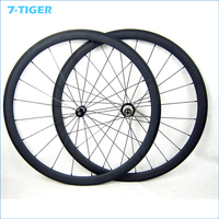00C Carbon Bicycle Wheelset Clincher Carbon Wheels 23mm Width Road Bike Powerway R36 Hub UD Finish