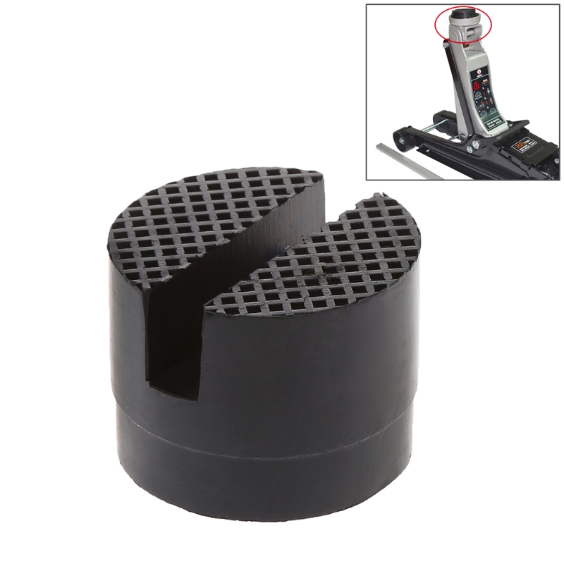 1pc Floor Black Floor Slotted Car Rubber Jack Pad Frame Protector Adapter Jacking Disk Pad Tool For Pinch Weld Side Lifting Disk