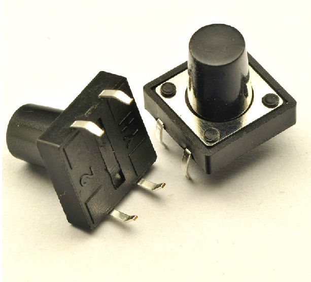 50pcs/lot Tactile Push Button Switch Momentary Tact 12x12xH = 4.3 5 6 7 8 10 12 16mm DIP Through-Hole 4pin Free shipping