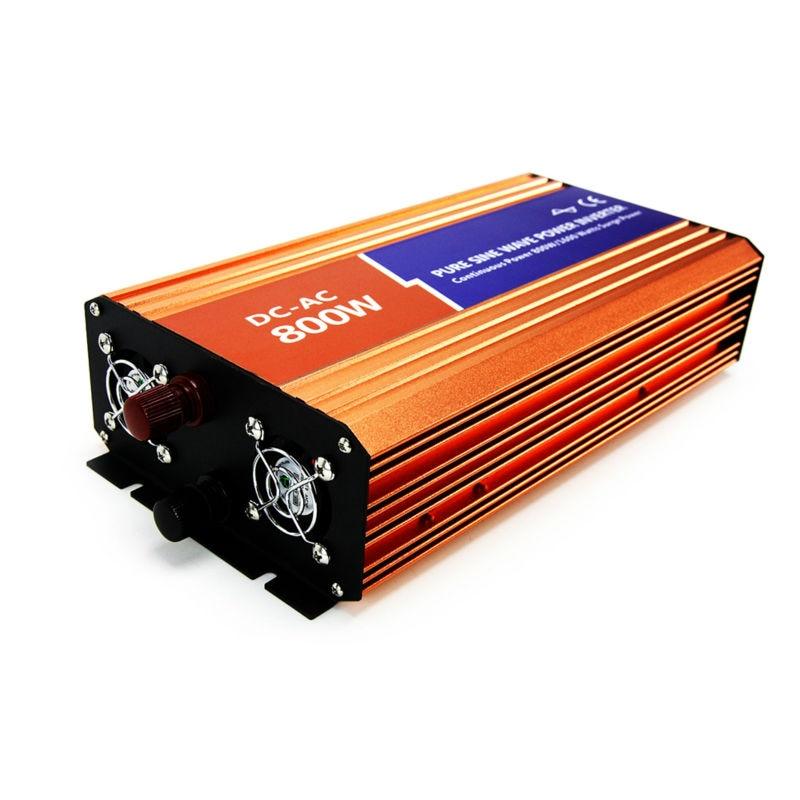 цена на DECEN@12VDC 800W 110V/120V/220V/230VAC 50Hz/60Hz Peak Power 1600W Off-grid Pure Sine Wave Solar Inverter or Wind Power Inverter