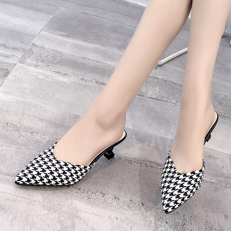 018b6c47f2cb women summer slippers designer shoes loafers pink slides footwear woman slide  sandals 2018 light house mules high heel black bee-in Slippers from Shoes  on ...