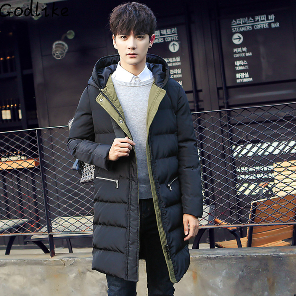 GODLIKE 2017 New Men Hooded Parkas Fashion Cotton Clothing Thick Warm Winter Casual long section of male thick jacket coat new 2016 winter men coat brand clothing casual x long hooded thick warm down jacket parkas men overcoats size s xxxl