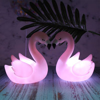 Novelty LED 3D Night Light Pink Flamingo Table Night Light Home Party Brithday Cake Decoration 3D