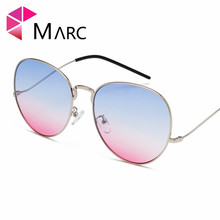 MARC Women Fashion Sunglasses Retro Round Eyeglasses Gradient Purple pink Alloy New Eyewear 2019 Trend UV400 1
