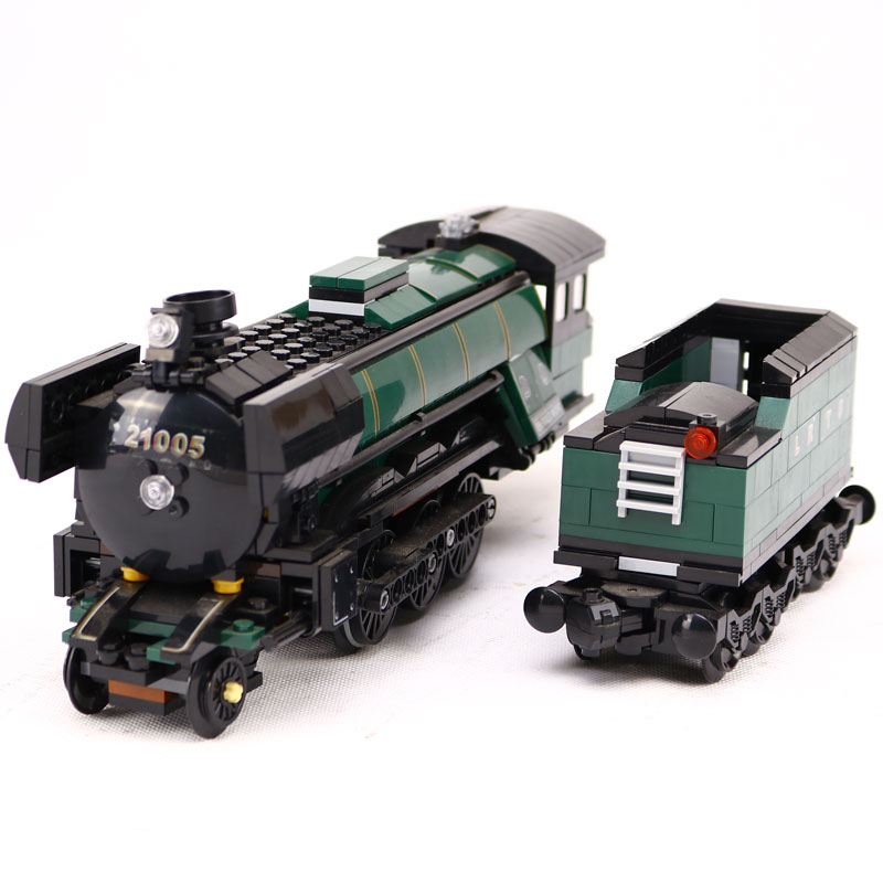 LEPIN 21005 Creator Emerald Night Train Model Building Kit Blocks Bricks Educational Toy Compatible With Lego 10194 1109 Pcs