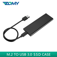 Zomy M.2 NGFF ssd case portable aluminum external enclosure SSD m.2 to usb 3.0 hard disk adapter case for 2230 2242 2260 2280