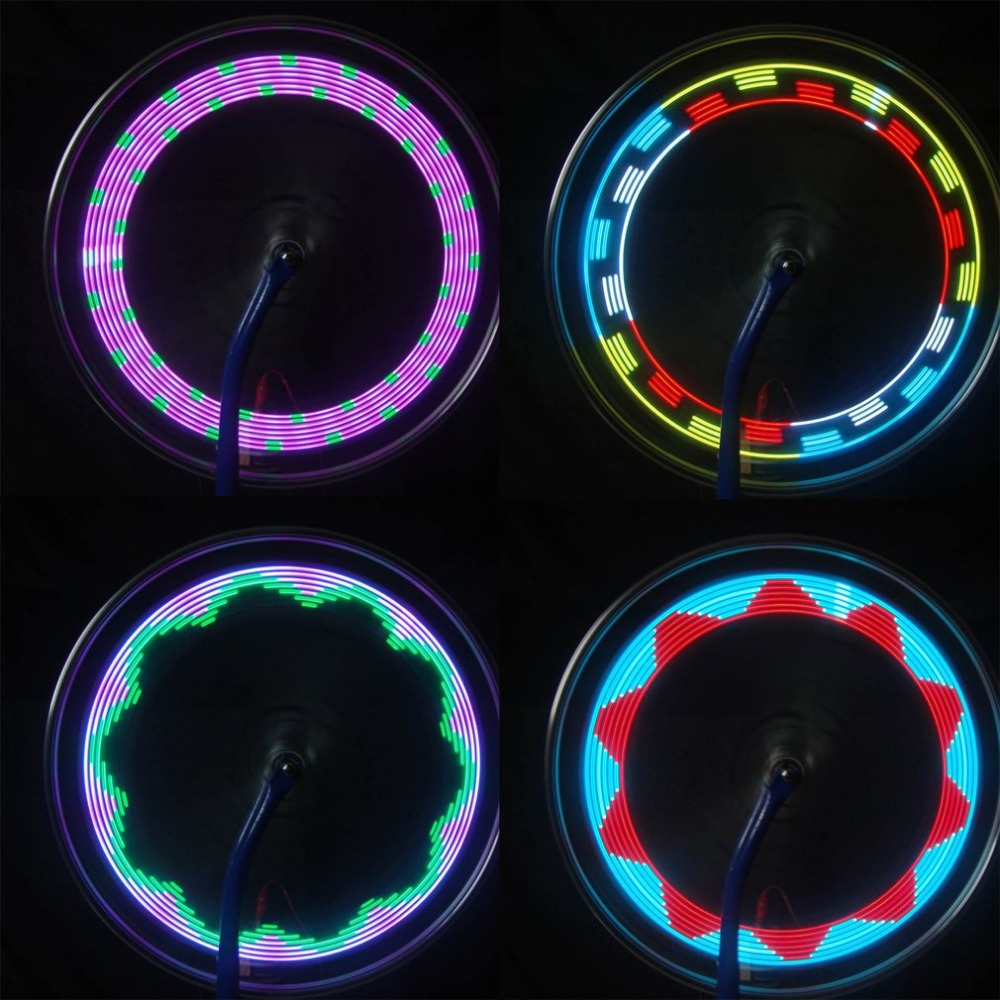 New 14LED 30 Change Pattern Bike Bicycle Wheel Tire Tyre Spoke Light USB Rechargeable Cycling Accessories Drop Ship