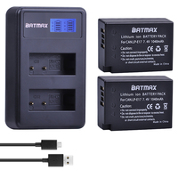 2X 1040mAh LP E17 LPE17 LP E17 Camera Replacement Bateries LCD Dual Charger For Canon EOS
