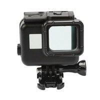 Black Waterproof Housing Case Touch Screen Back Door For Gopro Hero 5 Underwater Box For Go