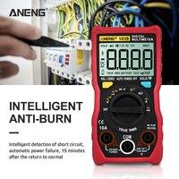 ANENG V03B LCD analogowy cyfrowy miernik uniwersalny 4000 zlicza multimetro miernik parametru esr multimetr auto power off szczyt automatyczny miernik w Mierniki wielofunk. od Narzędzia na