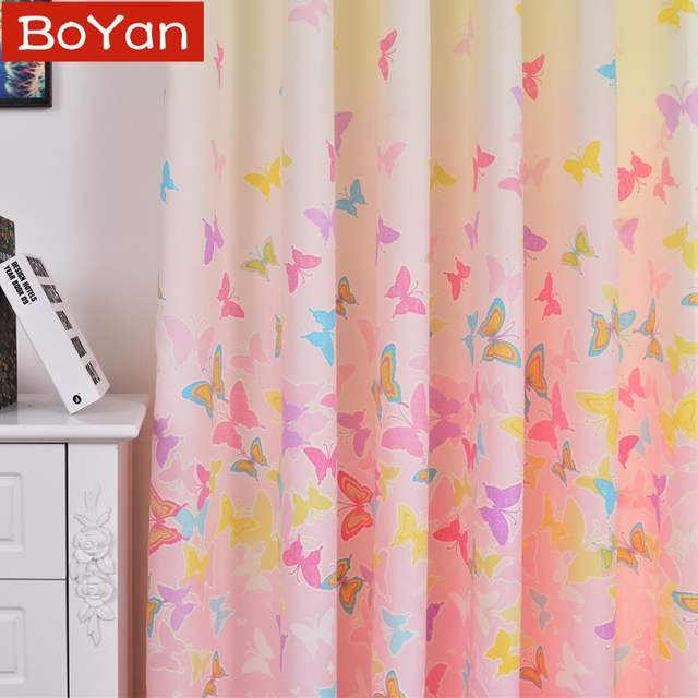 Online Shop Lovely Japan Korea Pink Window Curtain For Girls Baby