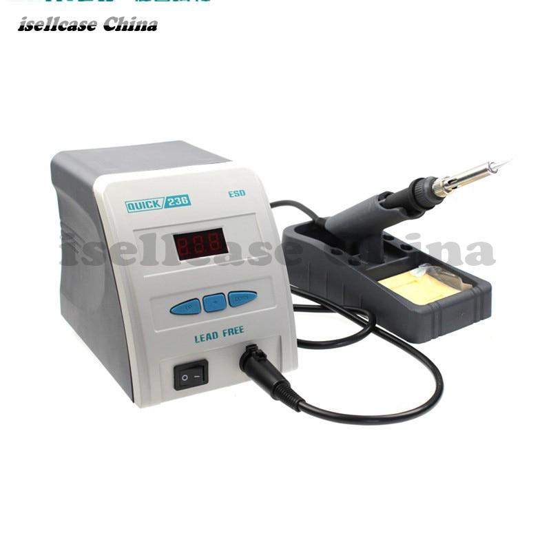 Original Quick 236 antistatic display lead-free welding iron 90w ESD Display specification soldering station Digital Repair tool
