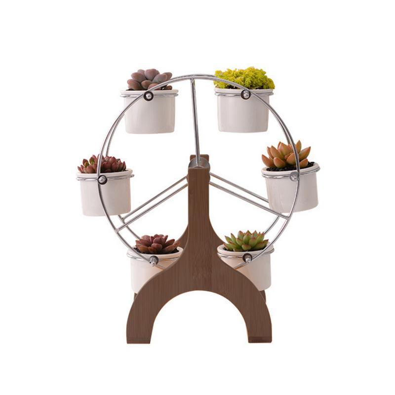 Simple White Set Succulent Plant Pot Cactus Plant Pot Innovative Ferris Wheel Shape Ceramic Basin Flower PotSimple White Set Succulent Plant Pot Cactus Plant Pot Innovative Ferris Wheel Shape Ceramic Basin Flower Pot
