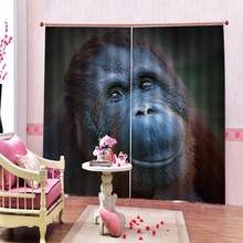customize home windows living room curtains blackout Kid room Animal avatar decoration curtain(China)