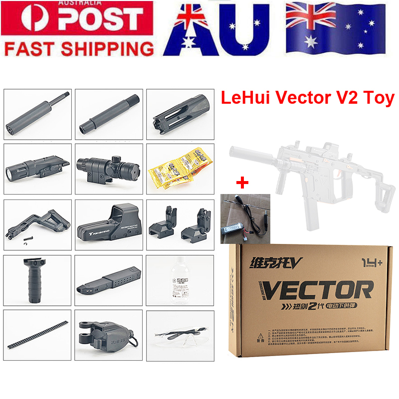 Free Shipping lehui magfed KrissvectorElectric Toy Gun Soft Water Bullet Bursts Live CS Assault Snipe Weapon Outdoors Toys Gun