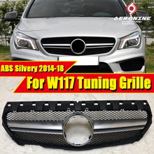 W117 GLA45 look Sport grille grill gloss silvery Without Sign For MercedesMB CLA Class CLA180 CLA200 250 Front Bumper Grills 14-