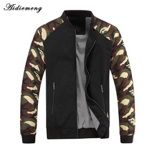 Jacket Men 2018 New Spring Mens Jacket Fashion Jacketmen Cotton Outerwear Coats Patchwork Military Camouflage Jacket For Men