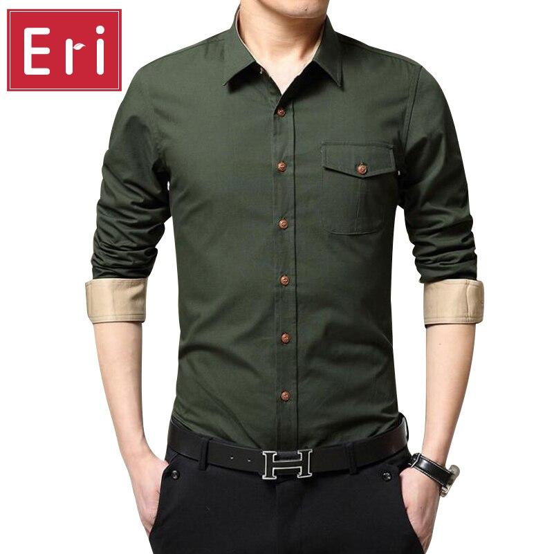 Aliexpress.com : Buy New Men Shirt Fashion Army Green Stand Collar ...