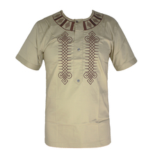 Wedding Wear African Clothes Men`s Dashiki Tunic Tops Africa Ethnic Riche Embroidery Short Caftan Attire