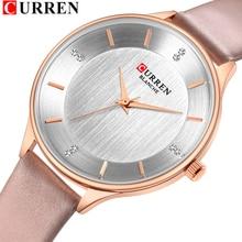 腕時計女性のためのトップブランドカレンラインストーン女性の Wriswatch 革の女性のドレス腕時計女性時計レロジオ Feminino