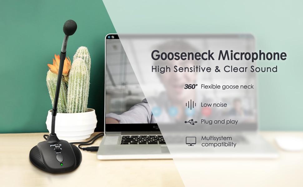 Microphone col de cygne, Micro USB