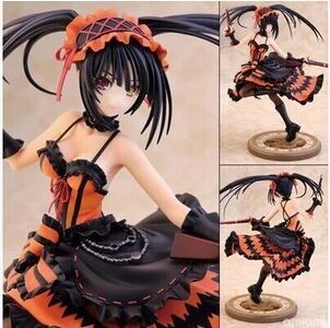 New DATE A LIVE Nightmare Tokisaki Kurumi Sleep Beauty Sexy PVC Action Figure Model Toys Anime Dowin Collection Gift 23cm григорий лепс парус live