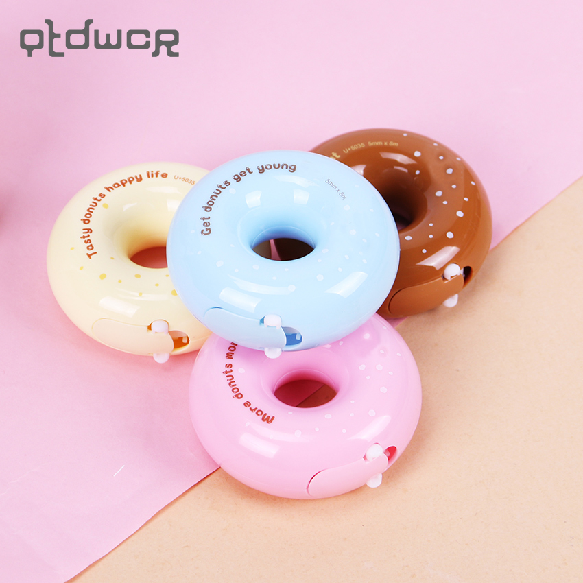 Creative 8M Donut Correction Tapes Roller Material White Sticker Kawaii Stationery Office School Supplies Papelaria Escolar original donut creative earrings