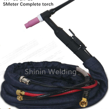 Высокое качество WP18 W350 TIG пистолет с водяным охлаждением аргон Tig сварочный фонарь es WP18 WP-18 SR18 5 м 16 футов кабель Tig фонарь в комплекте