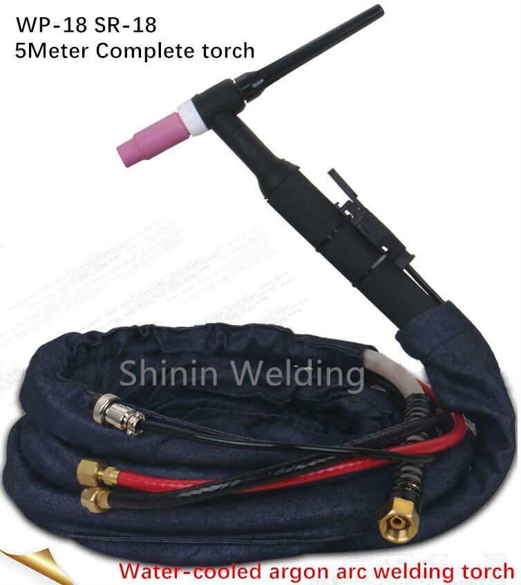 Hohe Qualität WP18 W350 TIG Gun Wasser Gekühlt Argon Tig Schweißen Fackeln WP18 WP-18 SR18 5 M 16 Fuß Kabel wig Brenner komplette
