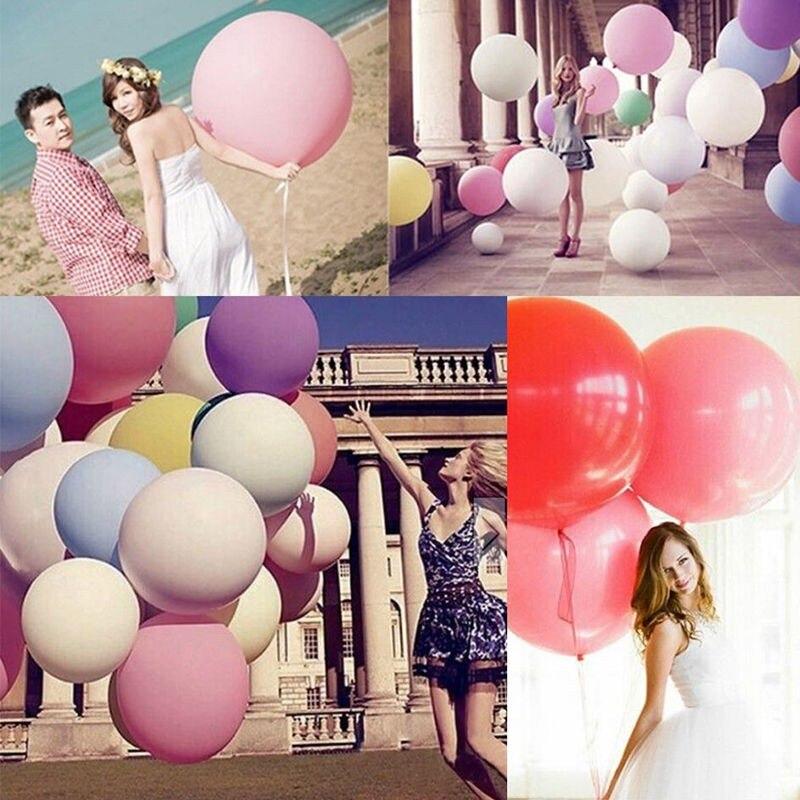 1 Pc 36 Zoll Riesige Big Latex Ballon Romantische Hochzeiten Geburtstag Bunte Infilable Ballon Nehmen Bilder Dekoration Super Ballon Diversifiziert In Der Verpackung