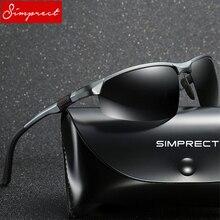 SIMPRECT 2019 Aluminum Magnesium Sunglasses Men Polarized UV400 High Quality Gog