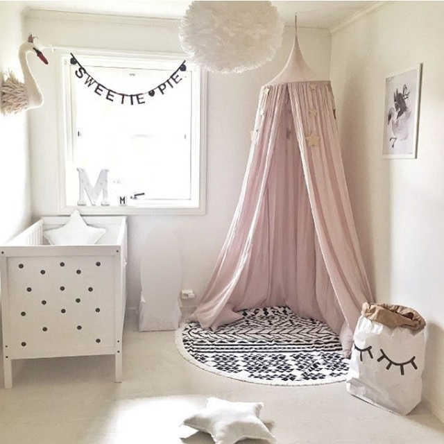 Nordic Party Decortive Children Room Dome Bed  Decorations Play Tent Cotton Tipi and Mosquito Net  Play House for Baby Room