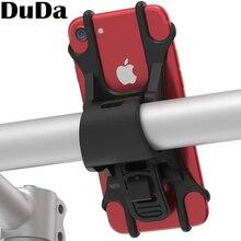 DuDa nuevo de silicona banda de apoyo de la bicicleta soporte para teléfono móvil soporte para bicicleta de manillar para huawei honor iPhone Samsung xiaomi mi a2 mi 8