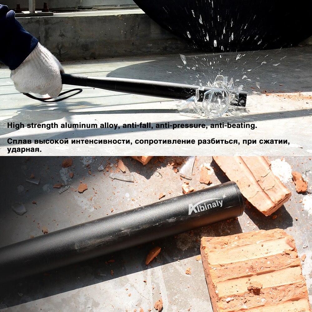 Baseball Bat LED Flashlight waterproof Super Bright Baton aluminium alloy Torch for Emergency and Self Defense