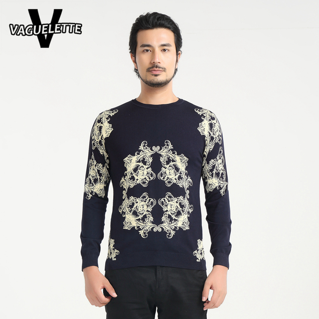 Casual Navy Blue Christmas Sueter Hombre Vines Pattern Skinny Autumn Men Clothes Knitted O Neck Sweaters Men Jumper M-4XL
