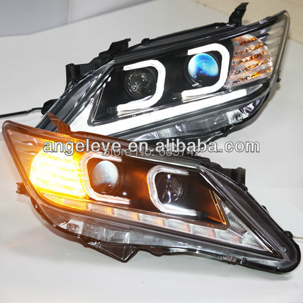 PENTRU TOYOTA Aurion Camry C tip LED Angel Eyes Light Head 2012-2013 - Faruri auto