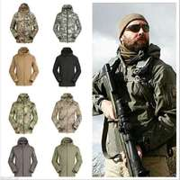 Dropshipping Lurker Shark Skin Softshell V5 Military Tactical Jacket Men Waterproof Coat Camouflage Hooded Army Camo