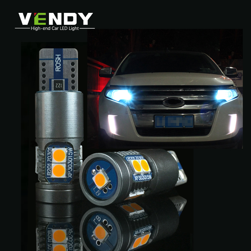 2x W5W T10 3030 Car LED Light Auto 12V Bulbs Canbus No Error 194 Parking Position Width Lamp Side Clearance Lights Car Styling 2x t10 led w5w car led auto lamp 12v clearance parking light bulbs with projector lens for mercedes benz w203 glk r ml w204 c e