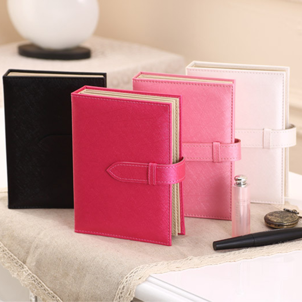 Newest Arrival Portable Book Typed Leather Jewelryanizer Earrings Ear  Studs Hooks Holder For Jewelry Store