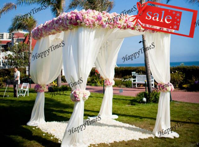 2*2*3M Wedding Outdoor Decoration Reception Hall With Flowersu0026Matched Stainless Steel Stand Banquet & 2*2*3M Wedding Outdoor Decoration Reception Hall With ...