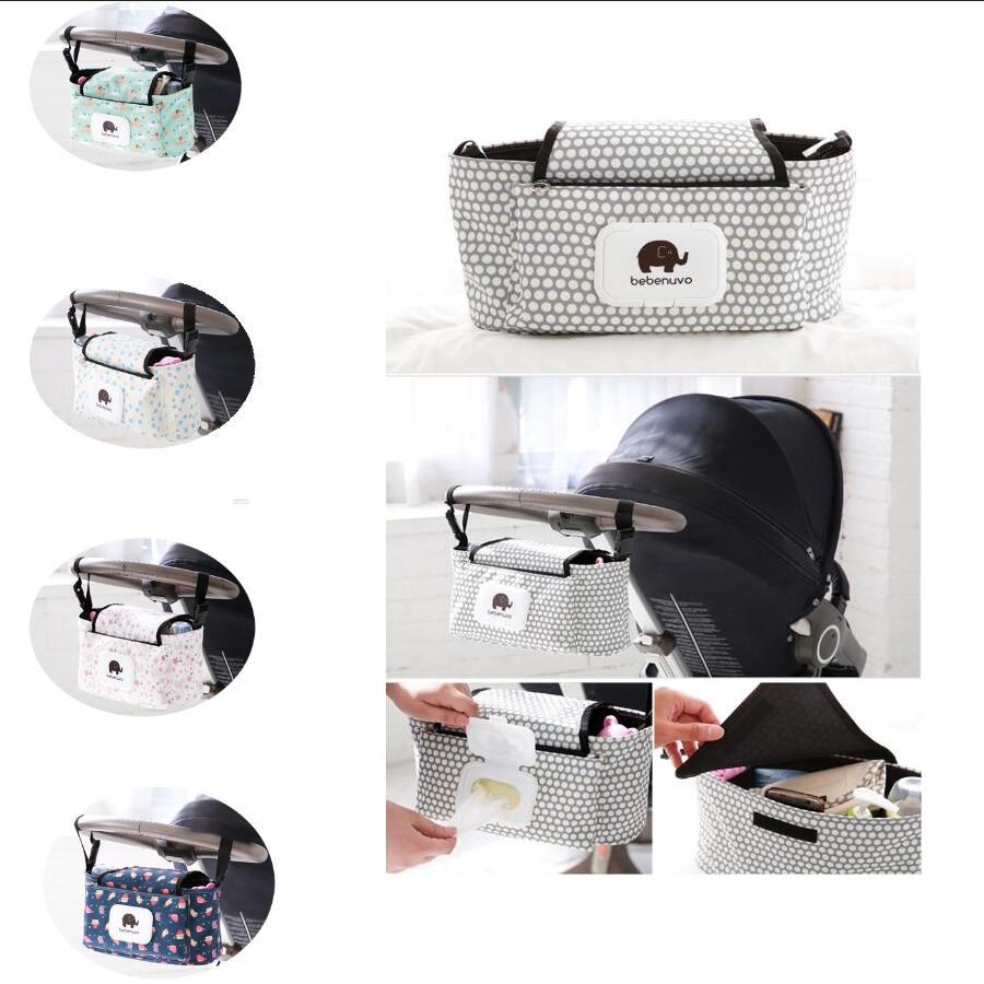 Fashion Diaper Bag Baby Stroller Bag Nappy Diaper Mummy Bag Hanging Baby Stroller Carriage Basket Storage Stroller Accessories