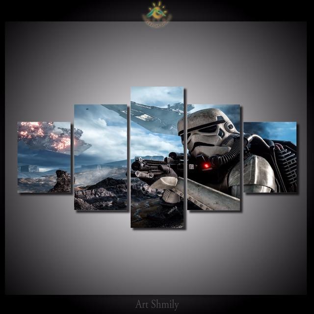 5 Pieces/set Star Wars Battlefront Print on Canvas
