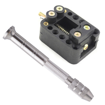 Jewelry Carving Tools Kit Manual Hand Drill Chuck Twsit Micro Drill Bit Pin Vice+Mini Walnut Vise Drill Stent Clip-on Table Vice g high quality portable mini pin vise wood spiral hand push drill chuck for jewelry tool micro twist bit tools hand drills t
