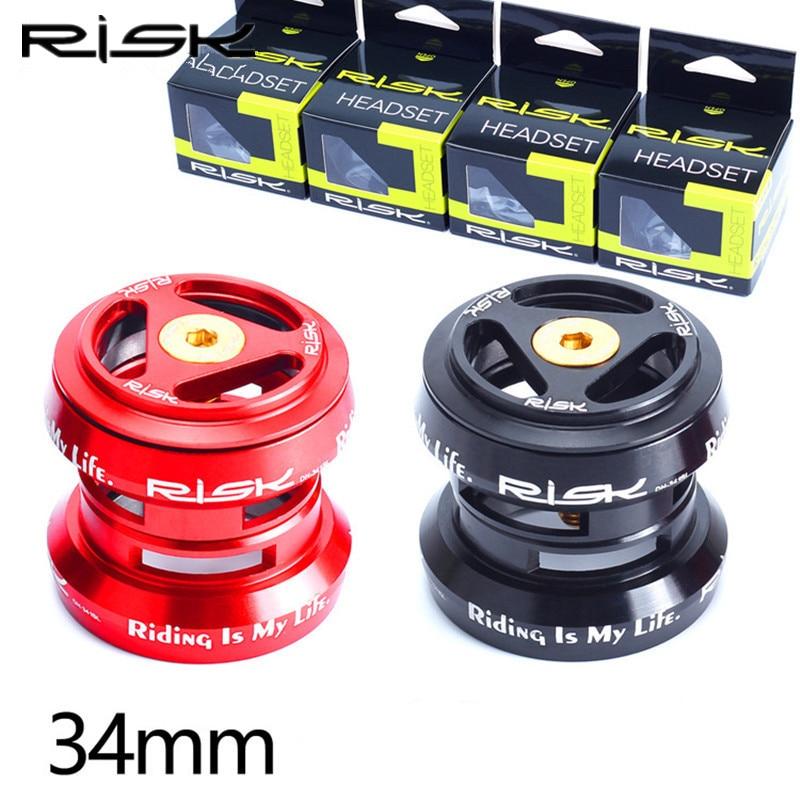 Demeras Fahrrad Headset Aluminiumlegierung 34mm Fahrrad Headset F/ür 28,6mm Geradlenker Gabel Lager Rot Schwarz