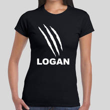 Crazy Top Tee Crew Neck Short-Sleeve Summer Womens  Logan Claws  Tee Shirt crew neck contrast striped tee