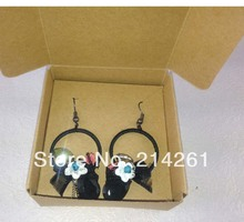 65x65x30mm Malt Colours Fashion Earring Box Necklace BOX For Earring Necklace Ring Jewelry Set Hand Made